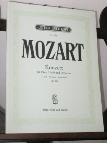 Mozart W A - Concerto in C KV299 for Flute Harp & Piano arr Burchard K